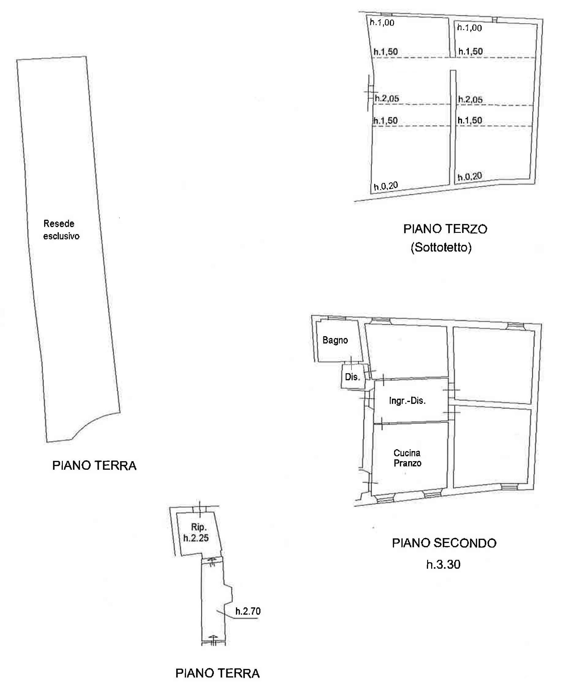 Planimetria 1/1 per rif. PA762