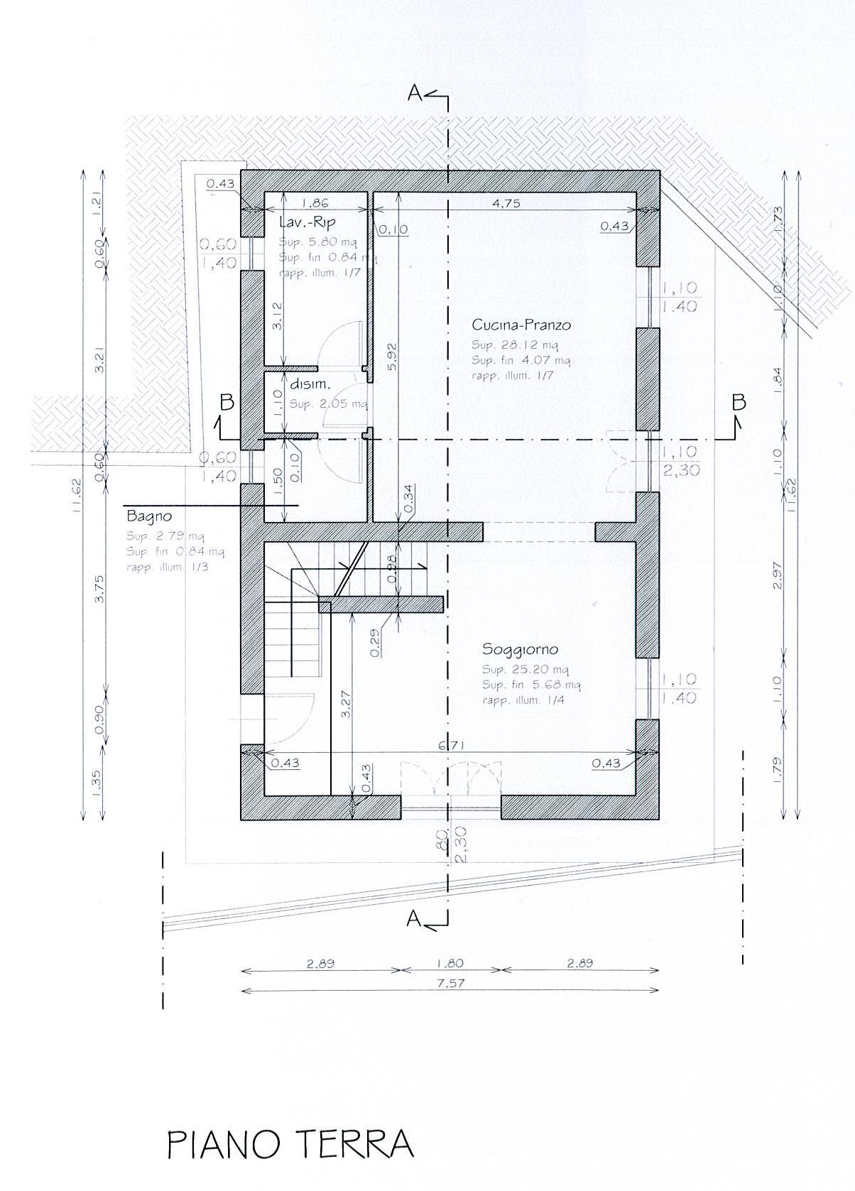 Planimetria 1/3 per rif. TE108CC
