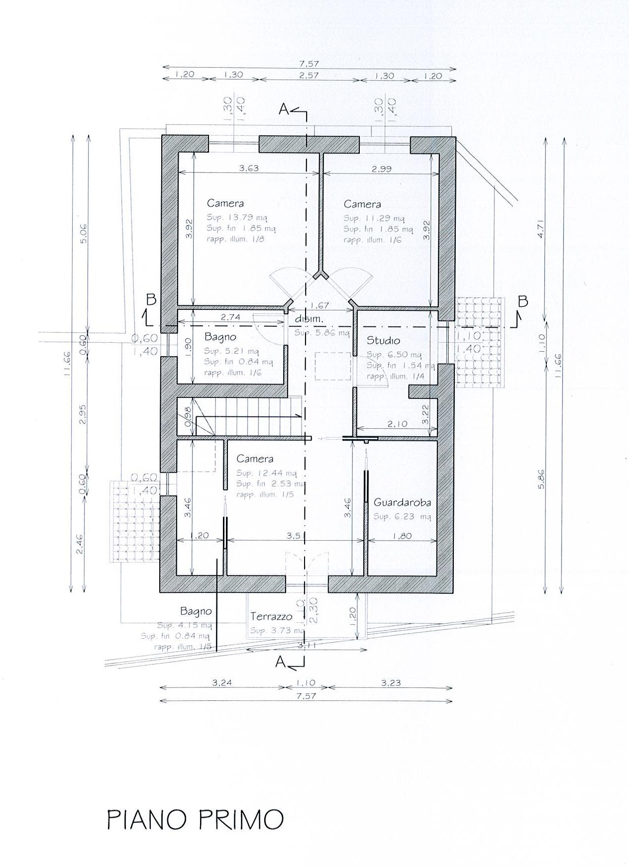 Planimetria 2/3 per rif. TE108CC