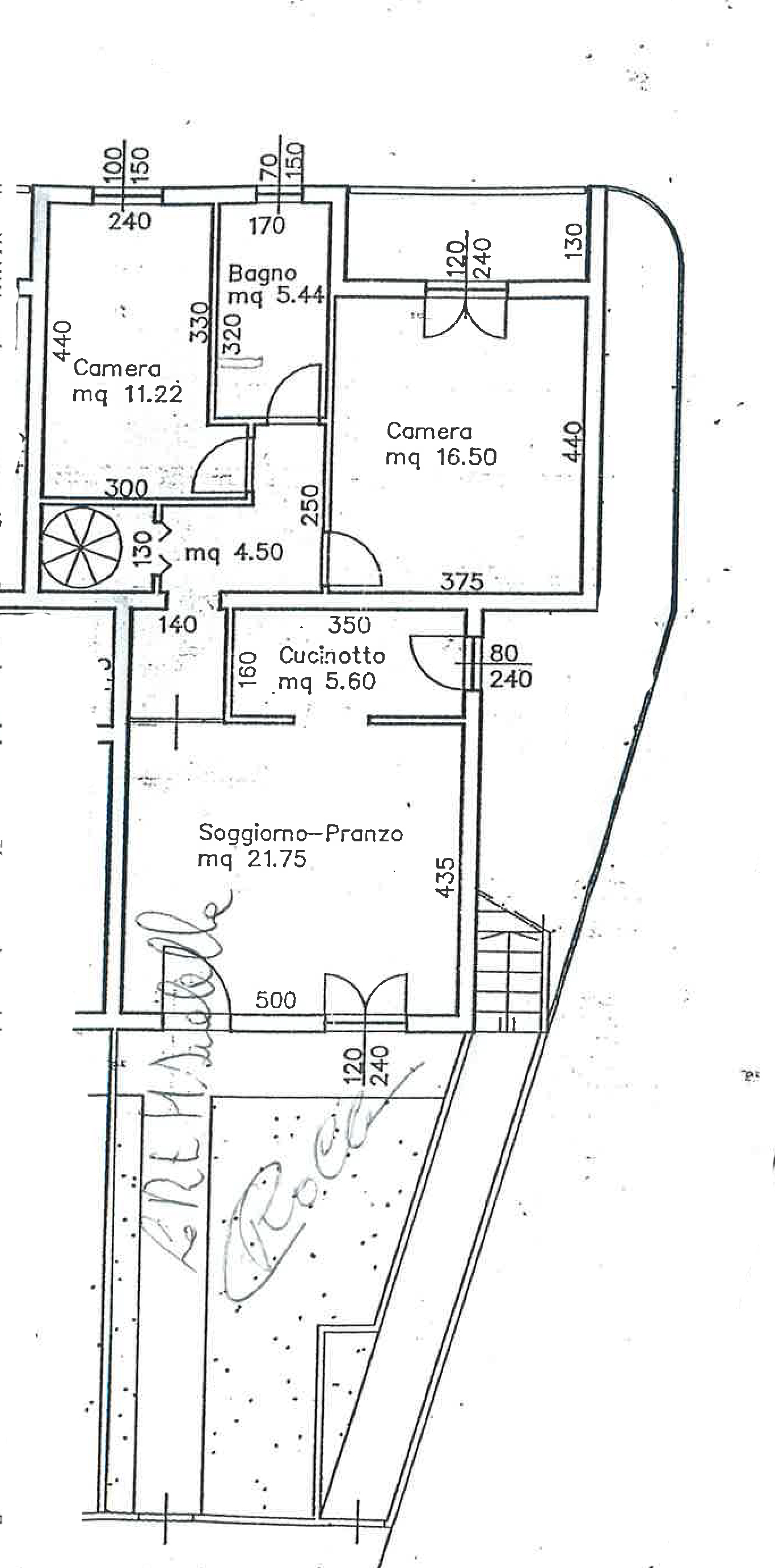 Planimetria 1/2 per rif. FO180B
