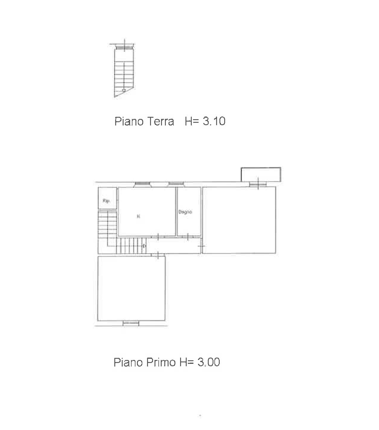 Planimetria 2/2 per rif. PA001