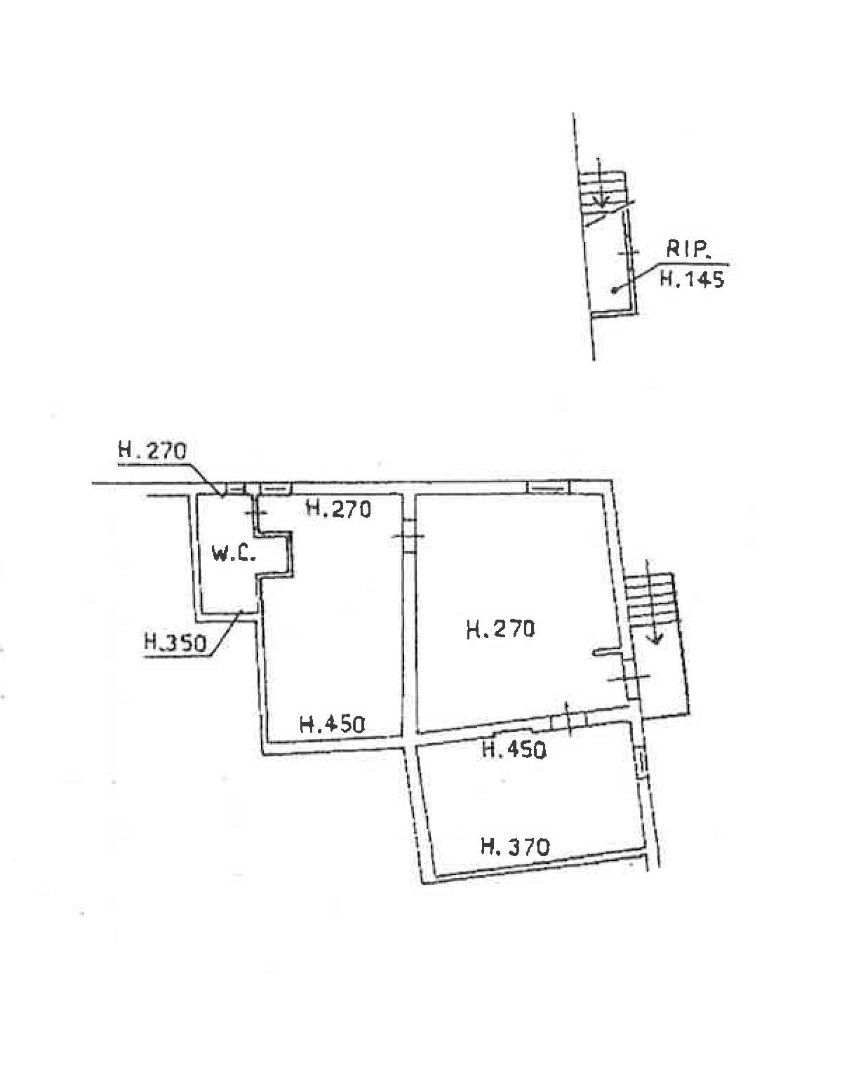 Planimetria 1/1 per rif. PA002