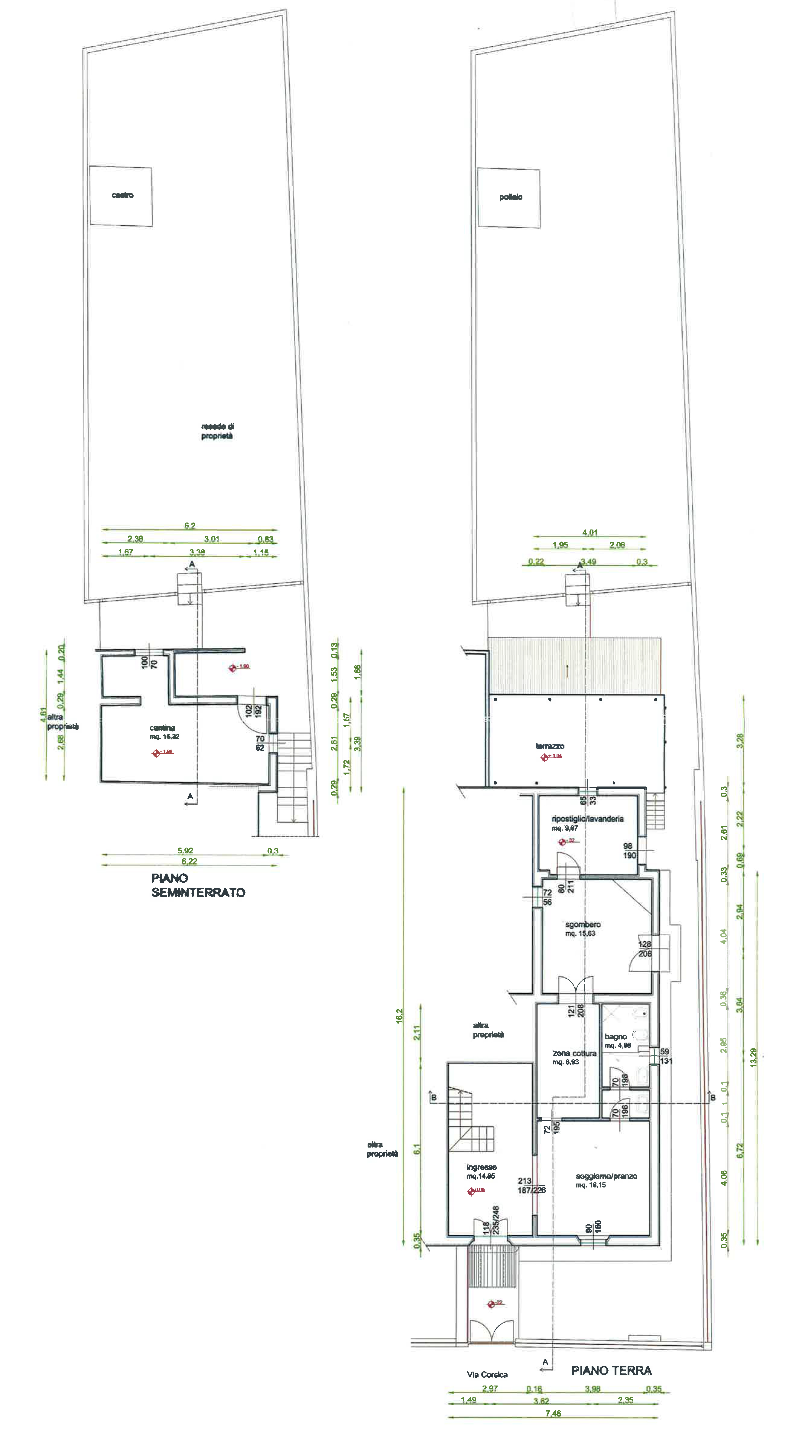 Plan 1/2 for ref. CA015B