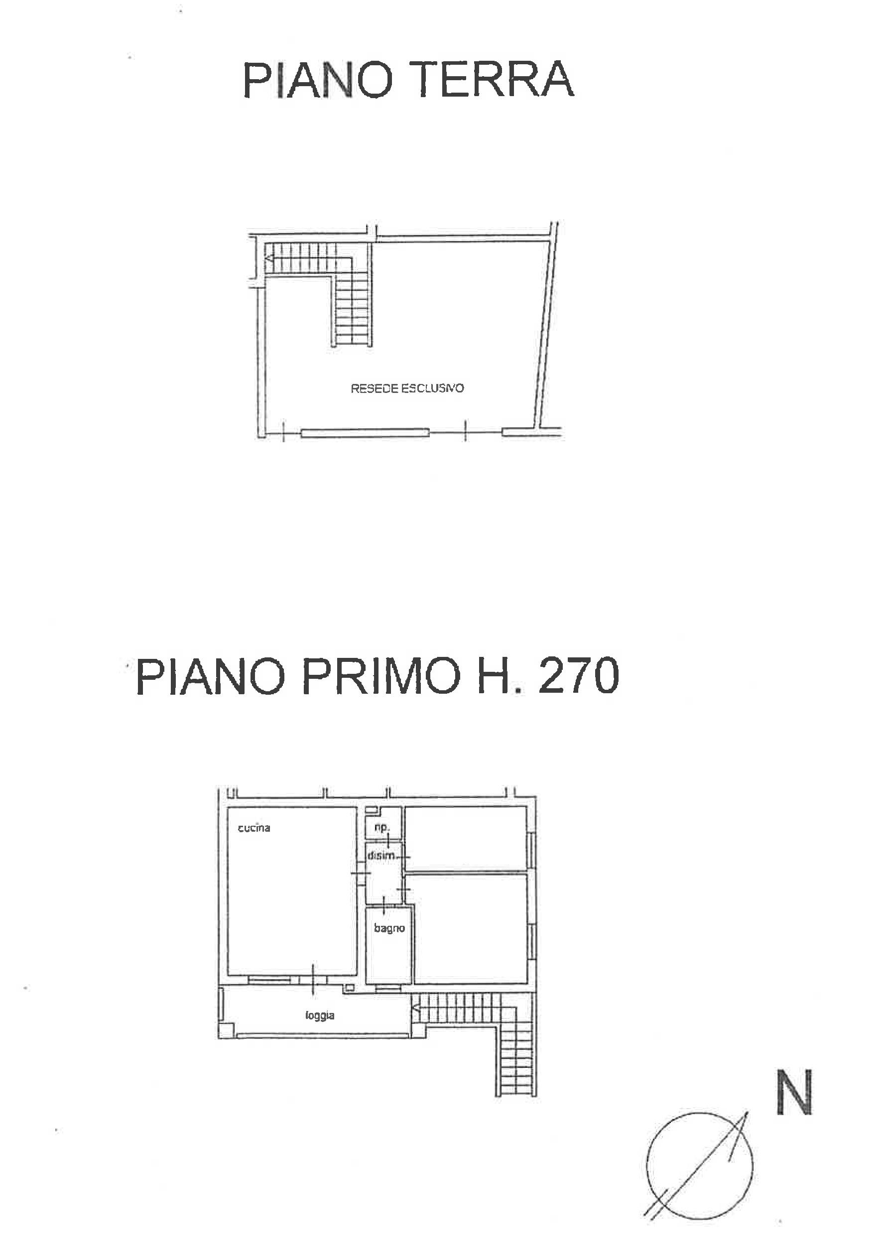 Planimetria 1/1 per rif. PA101