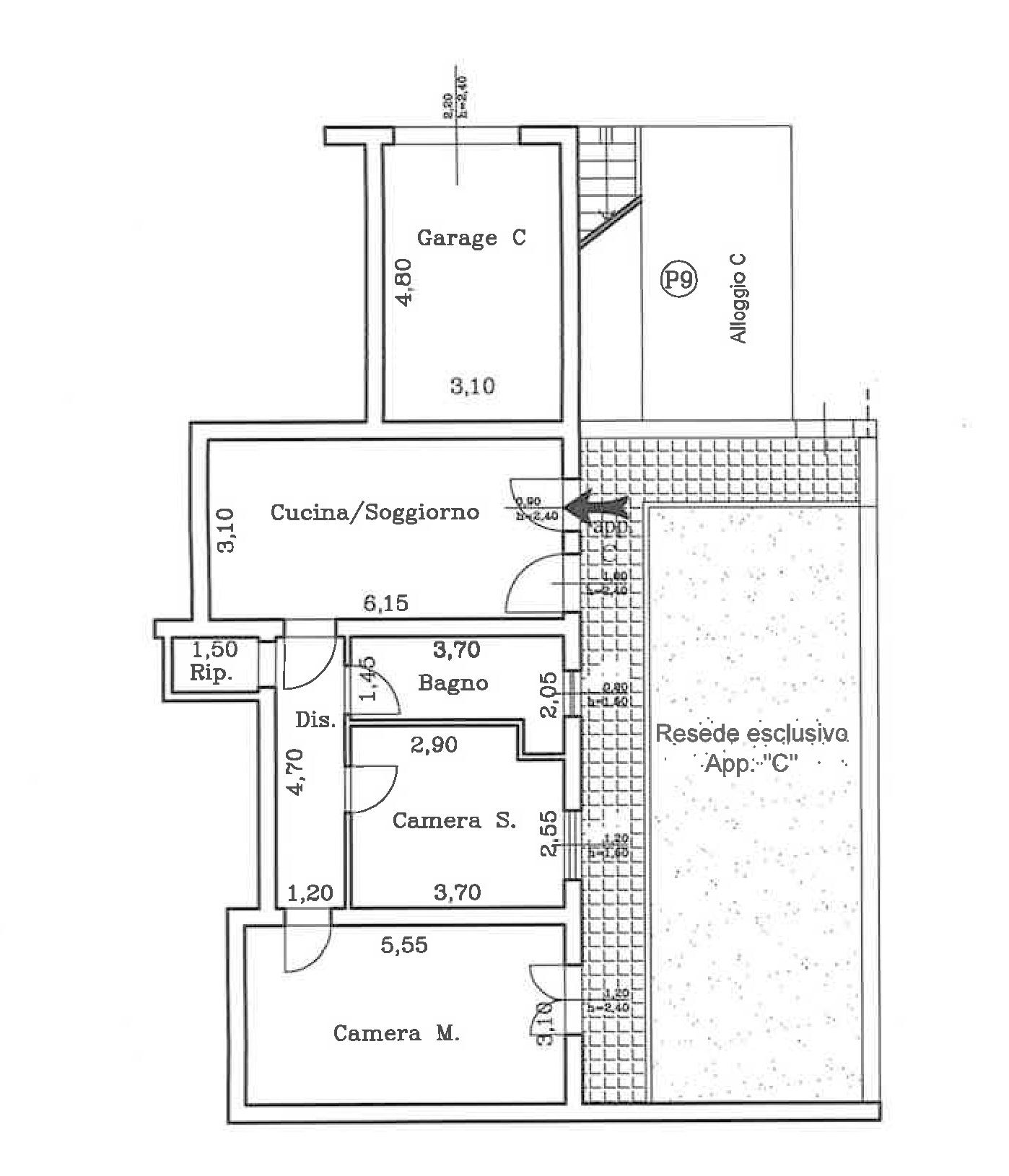Planimetria 1/1 per rif. CA009