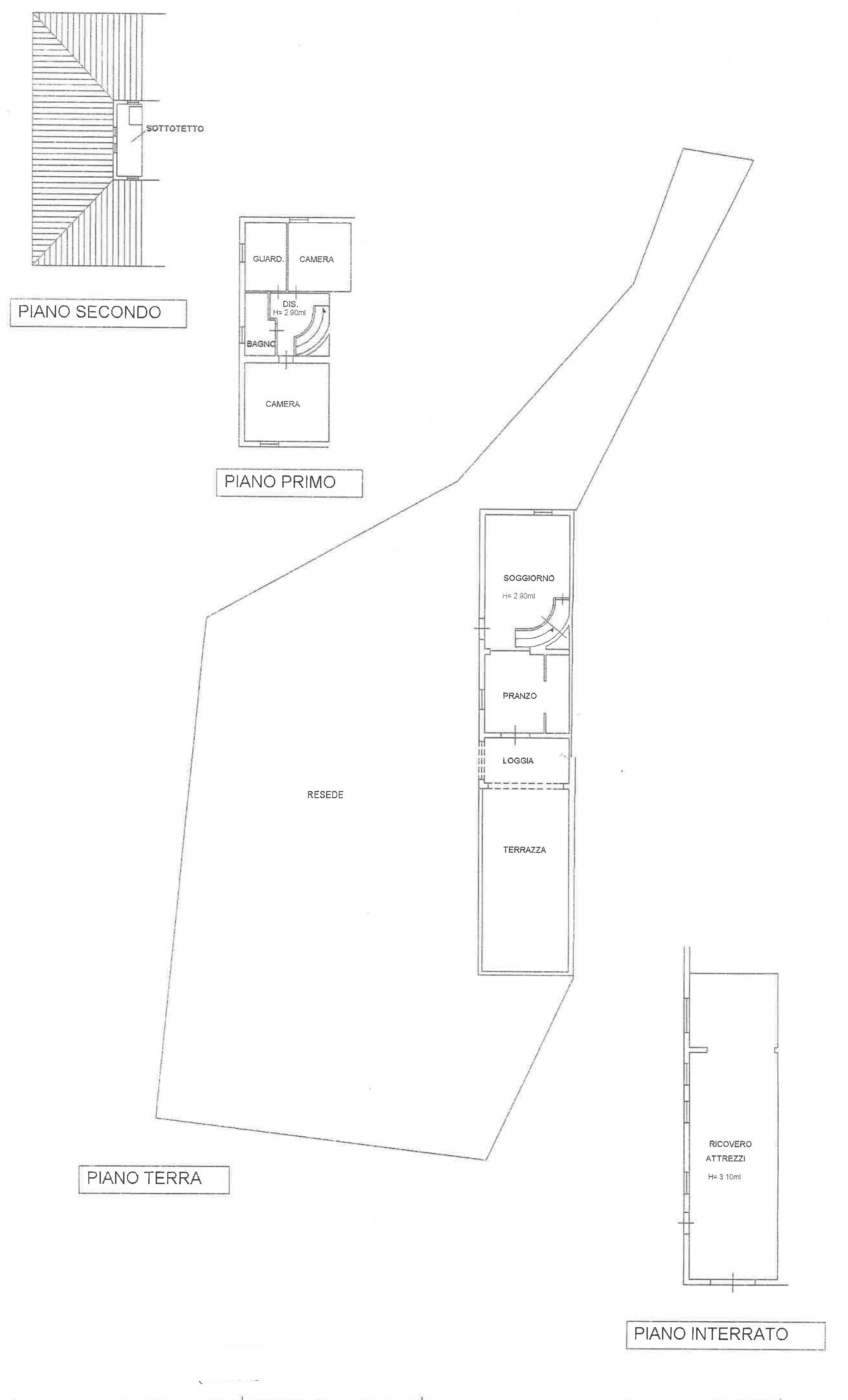 Planimetria 1/1 per rif. CA019