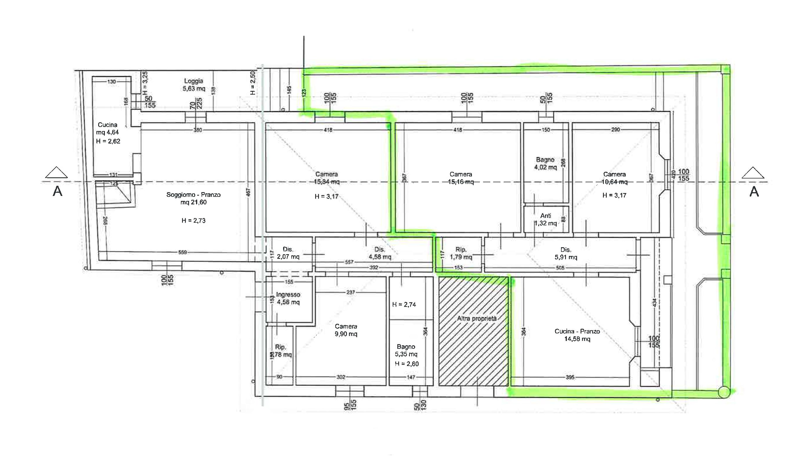 Planimetria 1/1 per rif. PE039