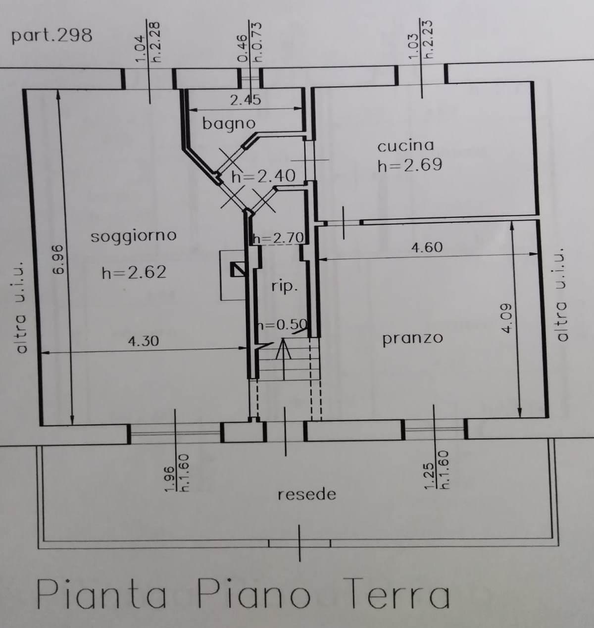 Planimetria 1/2 per rif. GE101