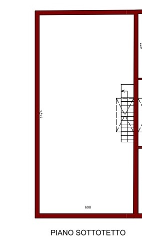 Planimetria 3/4 per rif. 12012
