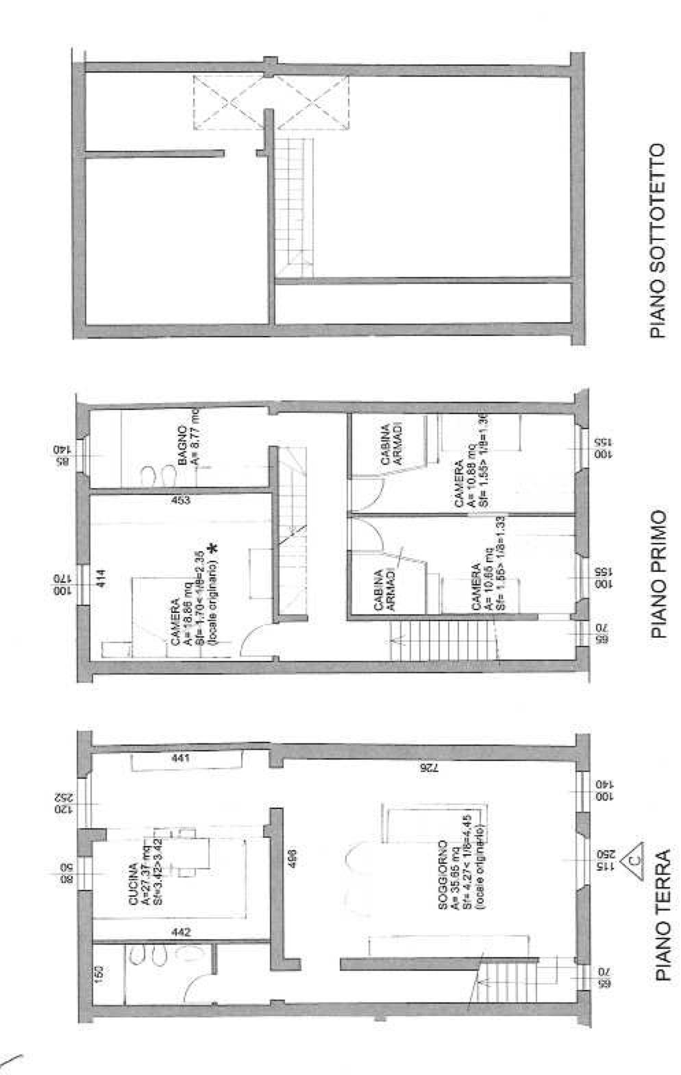 Planimetria 1/2 per rif. 12011