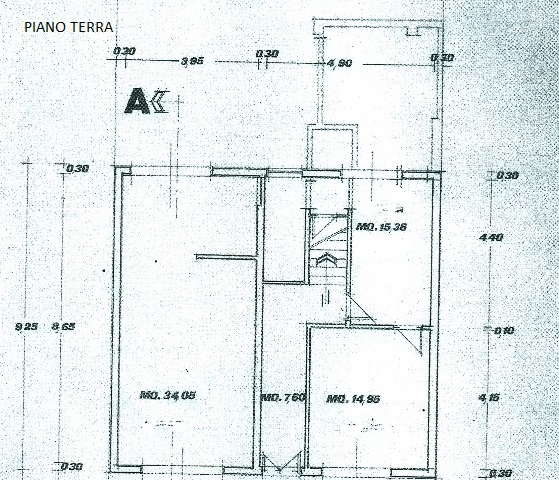 Planimetria 2/3 per rif. 1639