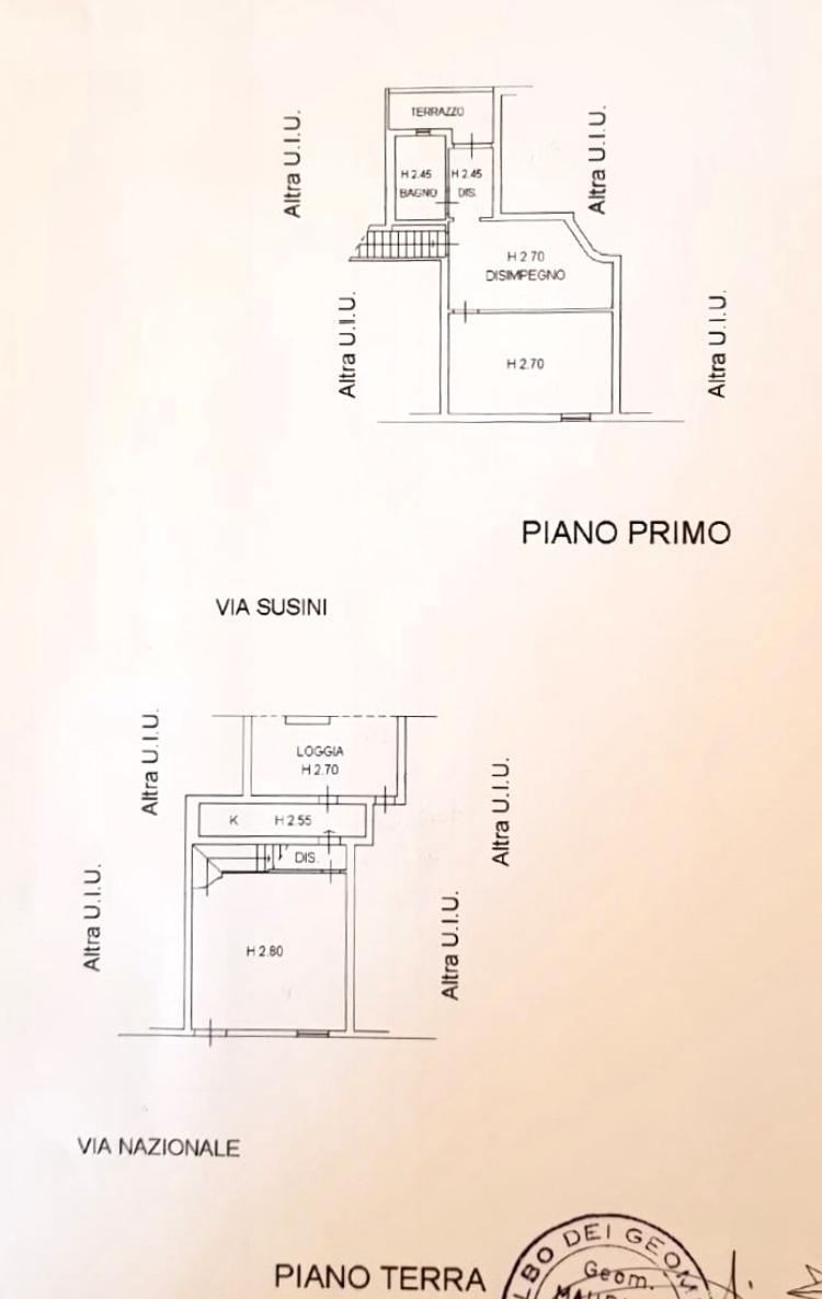 Planimetria 1/1 per rif. 1278