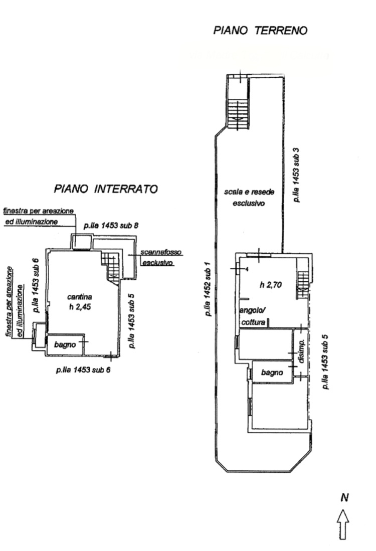 Planimetria 1/2 per rif. 1282
