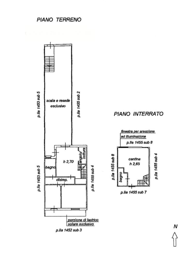Planimetria 1/2 per rif. 1283