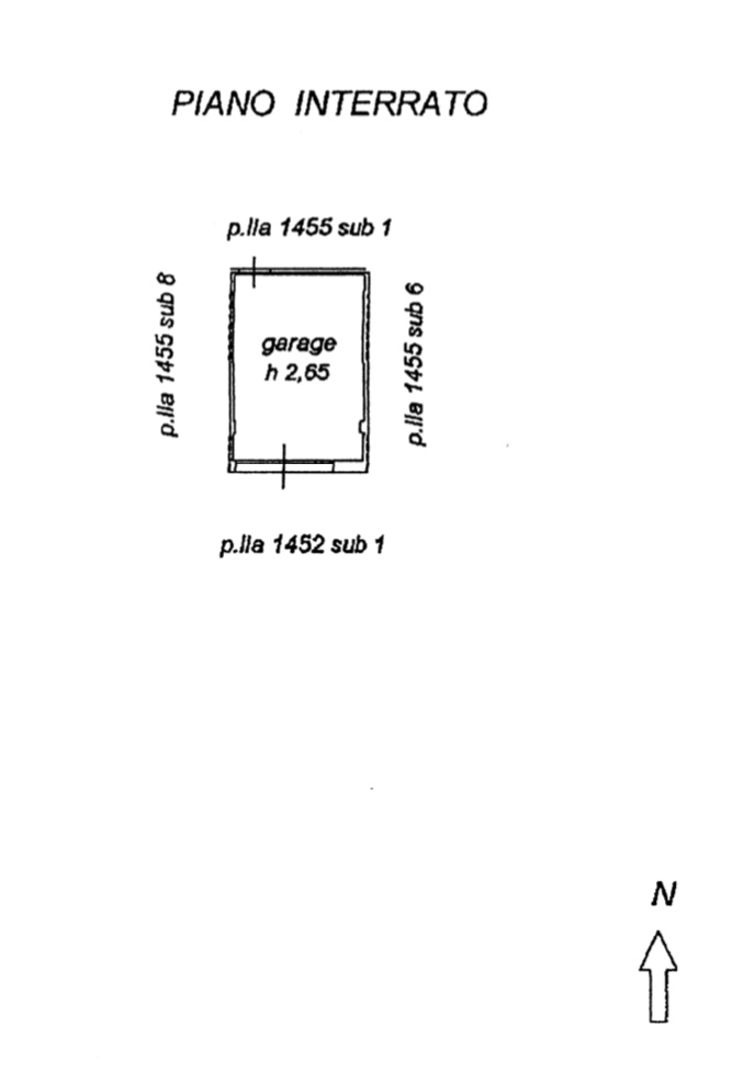 Planimetria 2/2 per rif. 1283