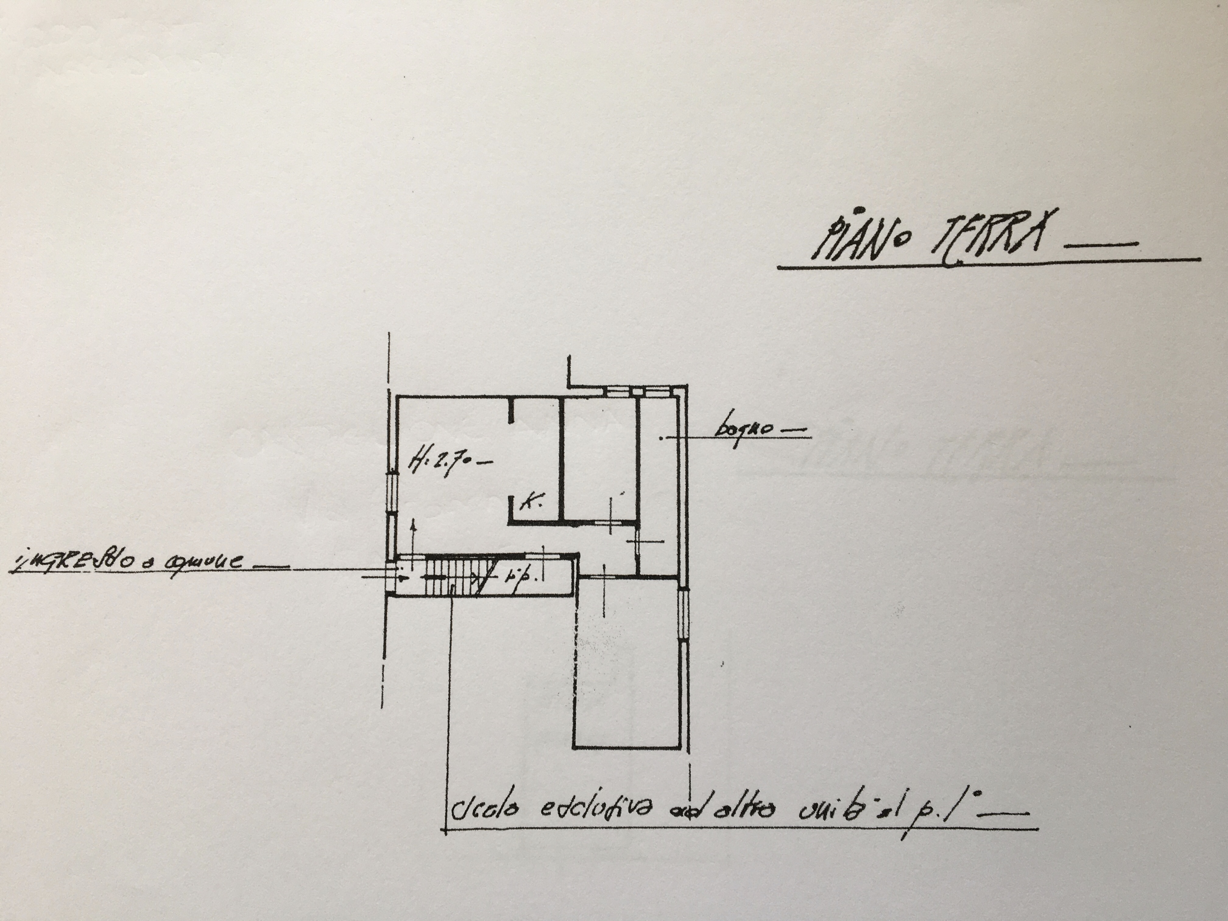 Planimetria 1/2 per rif. 1274