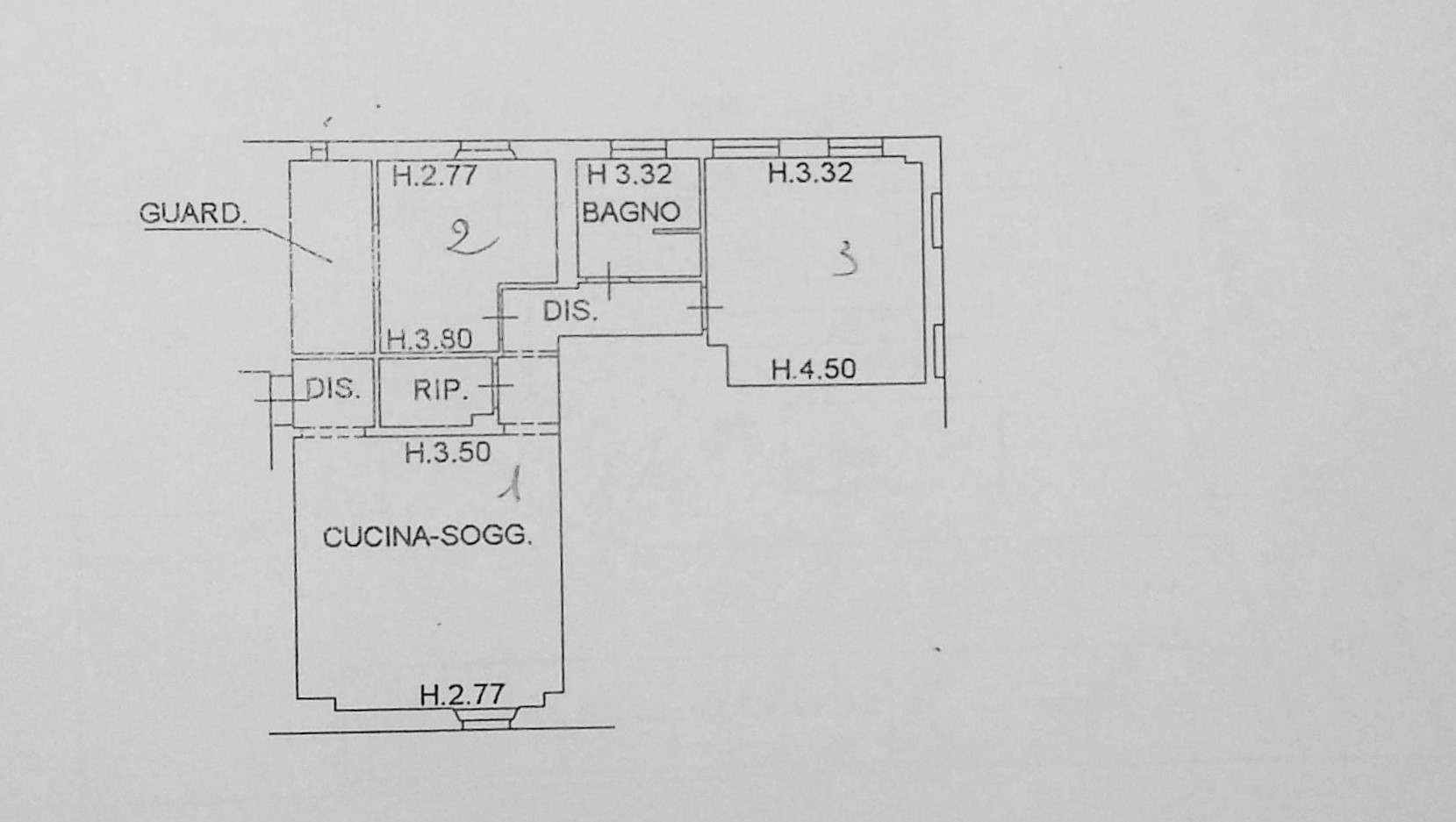 Planimetria 1/1 per rif. 383