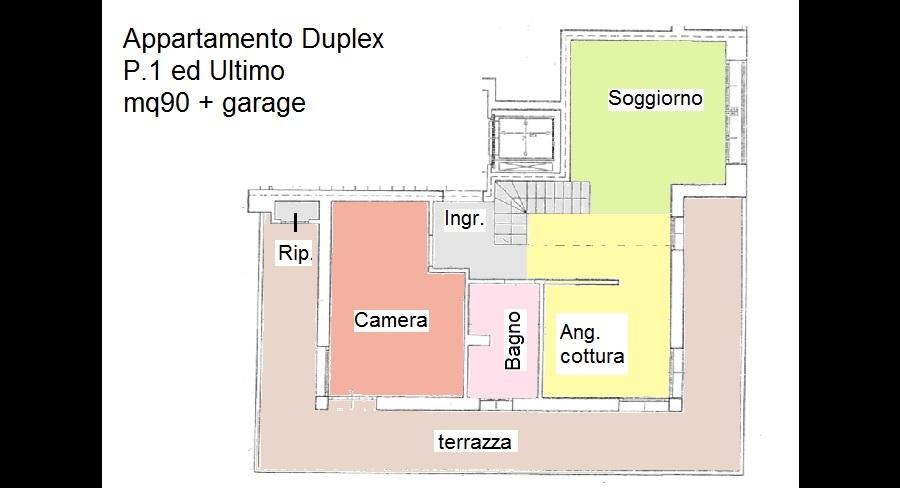 Planimetria 1/2 per rif. 168