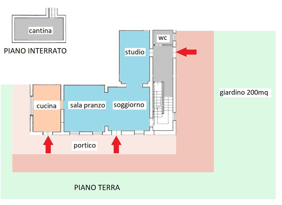 Planimetria 1/2 per rif. 318