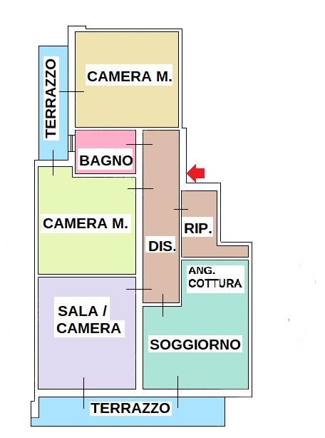 Planimetria 1/1 per rif. 338