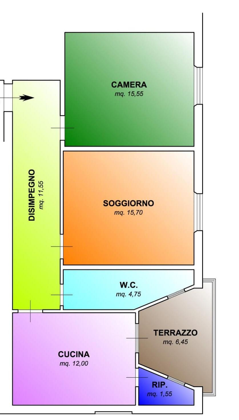 Planimetria 1/1 per rif. 422