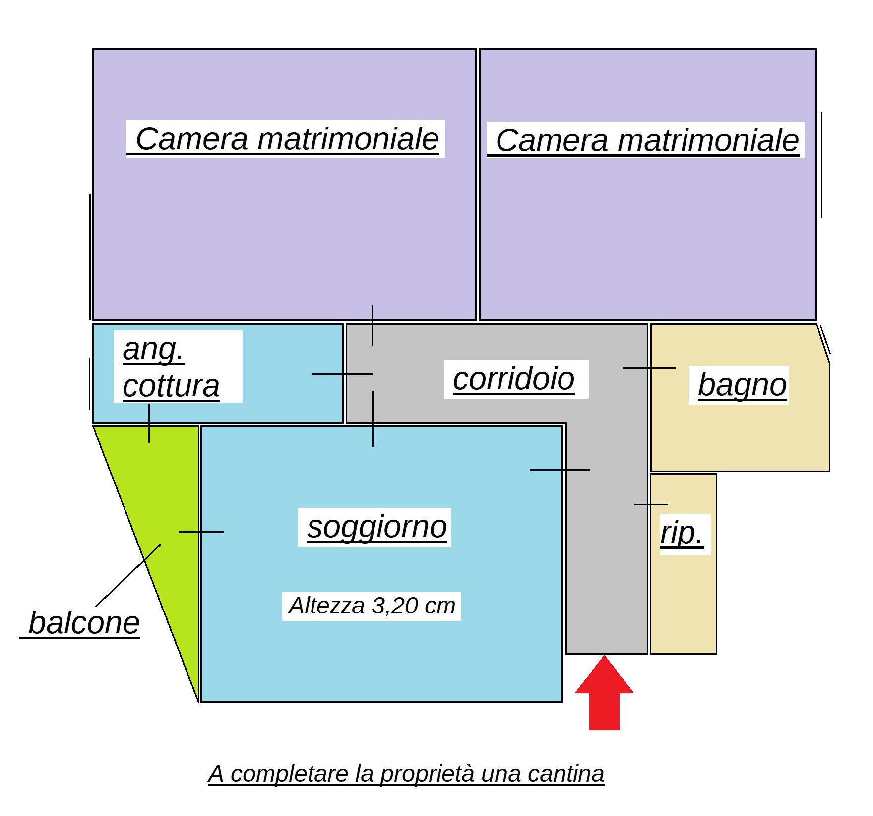 Planimetria 1/1 per rif. 434
