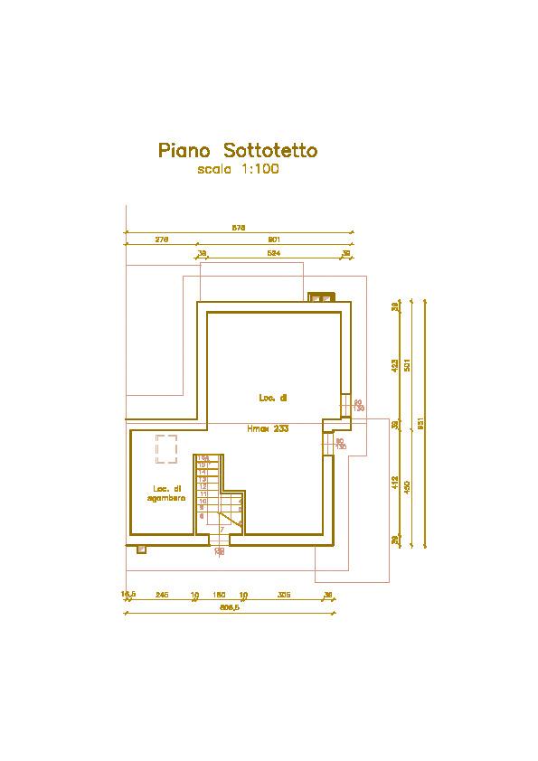 Villetta bifamiliare in vendita, rif. Mi679 (Planimetria 3/4)