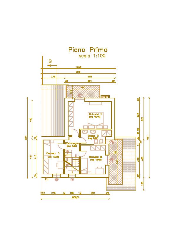 Villetta bifamiliare in vendita, rif. Mi679 (Planimetria 2/4)