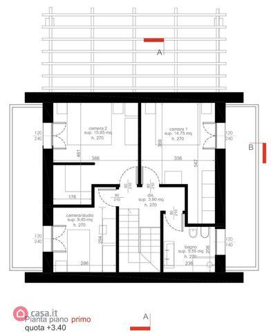 Villa singola in vendita, rif. Mi684 (Planimetria 2/3)