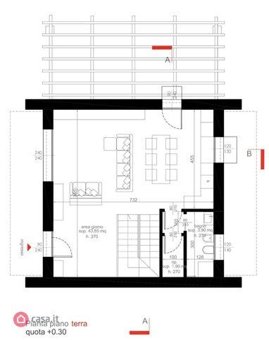 Villa singola in vendita, rif. Mi684 (Planimetria 1/3)