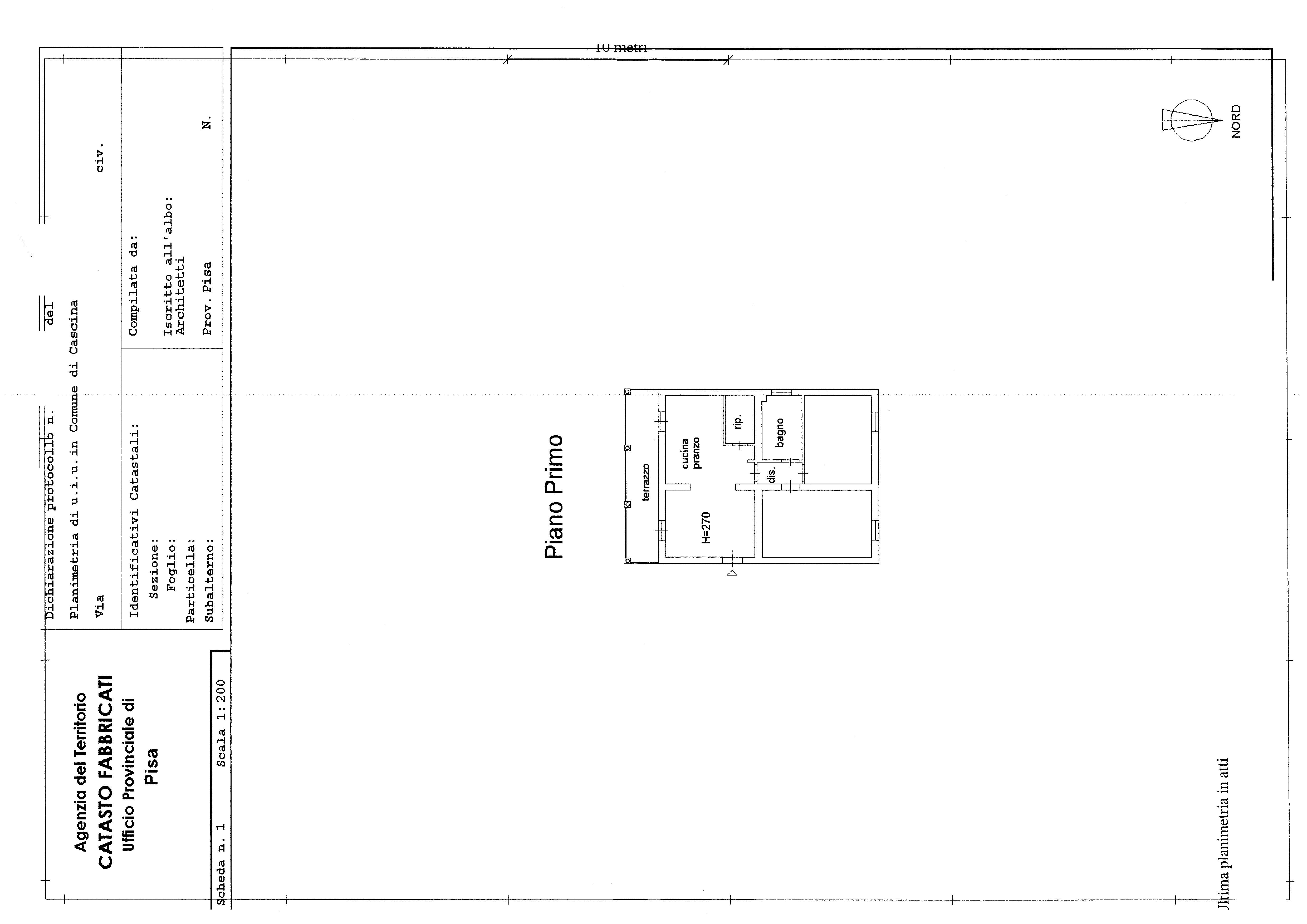 Planimetria 2/2 per rif. 6896