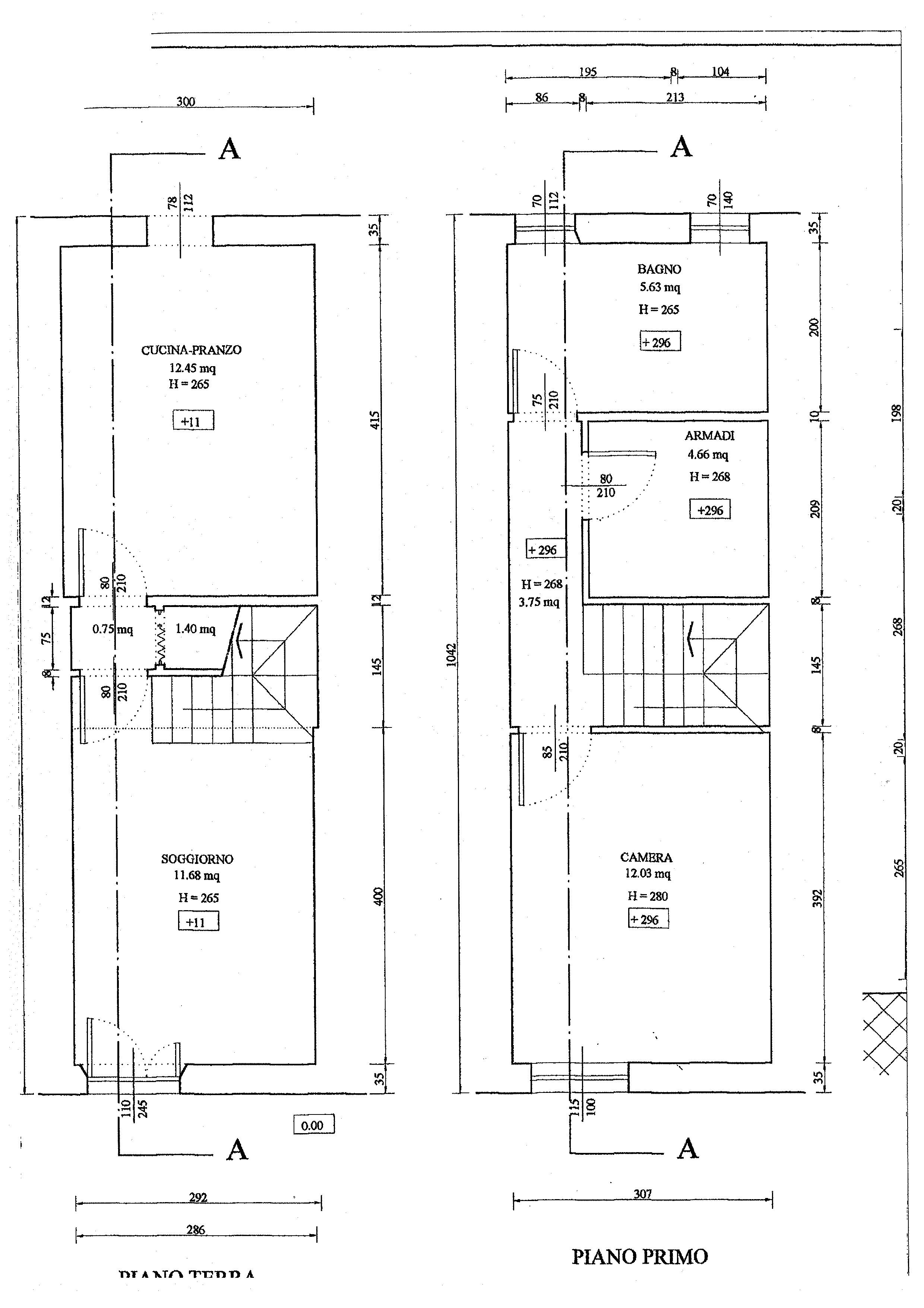 Planimetria 1/1 per rif. 7022
