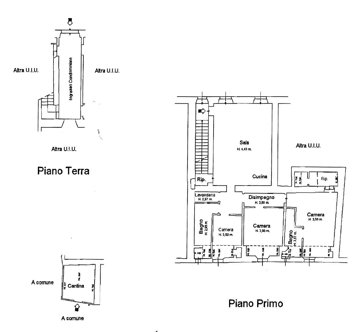 Planimetria 1/1 per rif. Au312