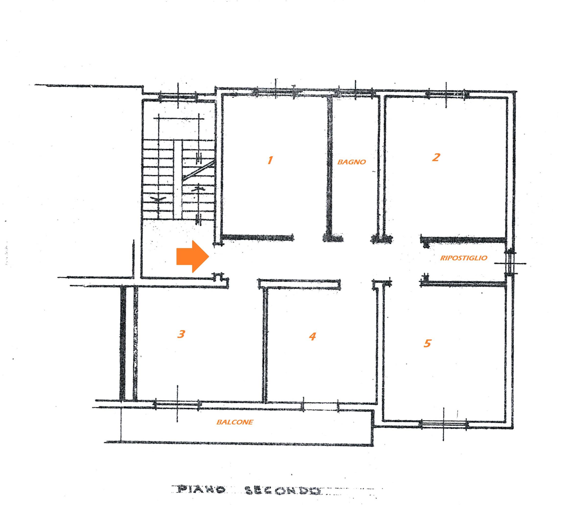 Planimetria 1/1 per rif. Au313