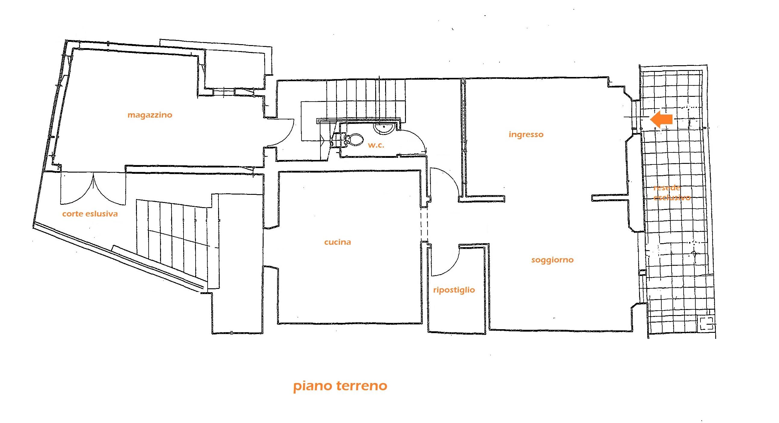 Planimetria 1/2 per rif. Au323