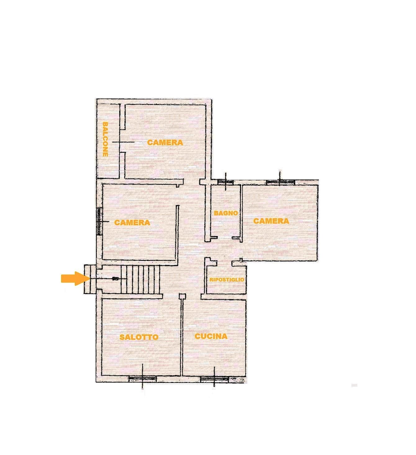Planimetria 1/1 per rif. Au326