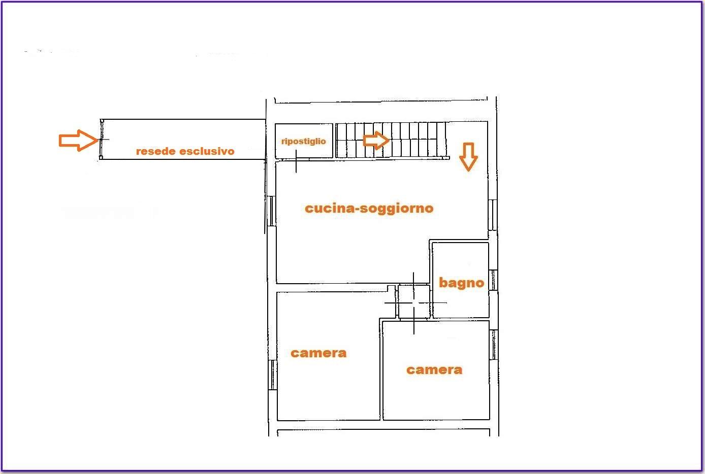 Planimetria 1/1 per rif. Au340a