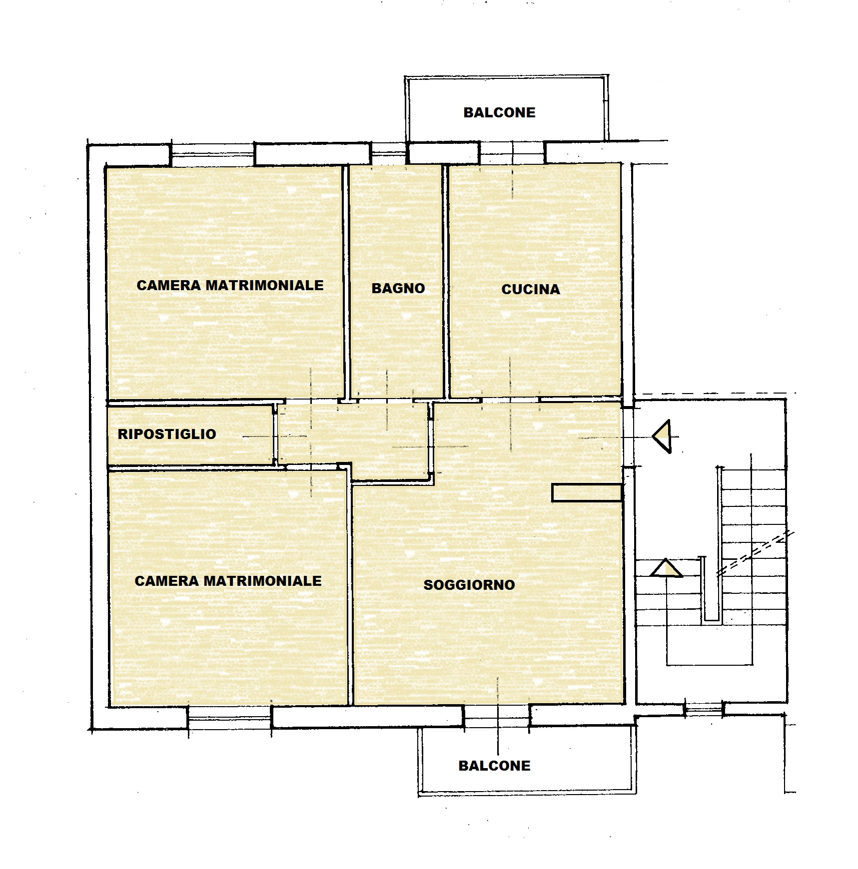 Planimetria 1/1 per rif. Au372a