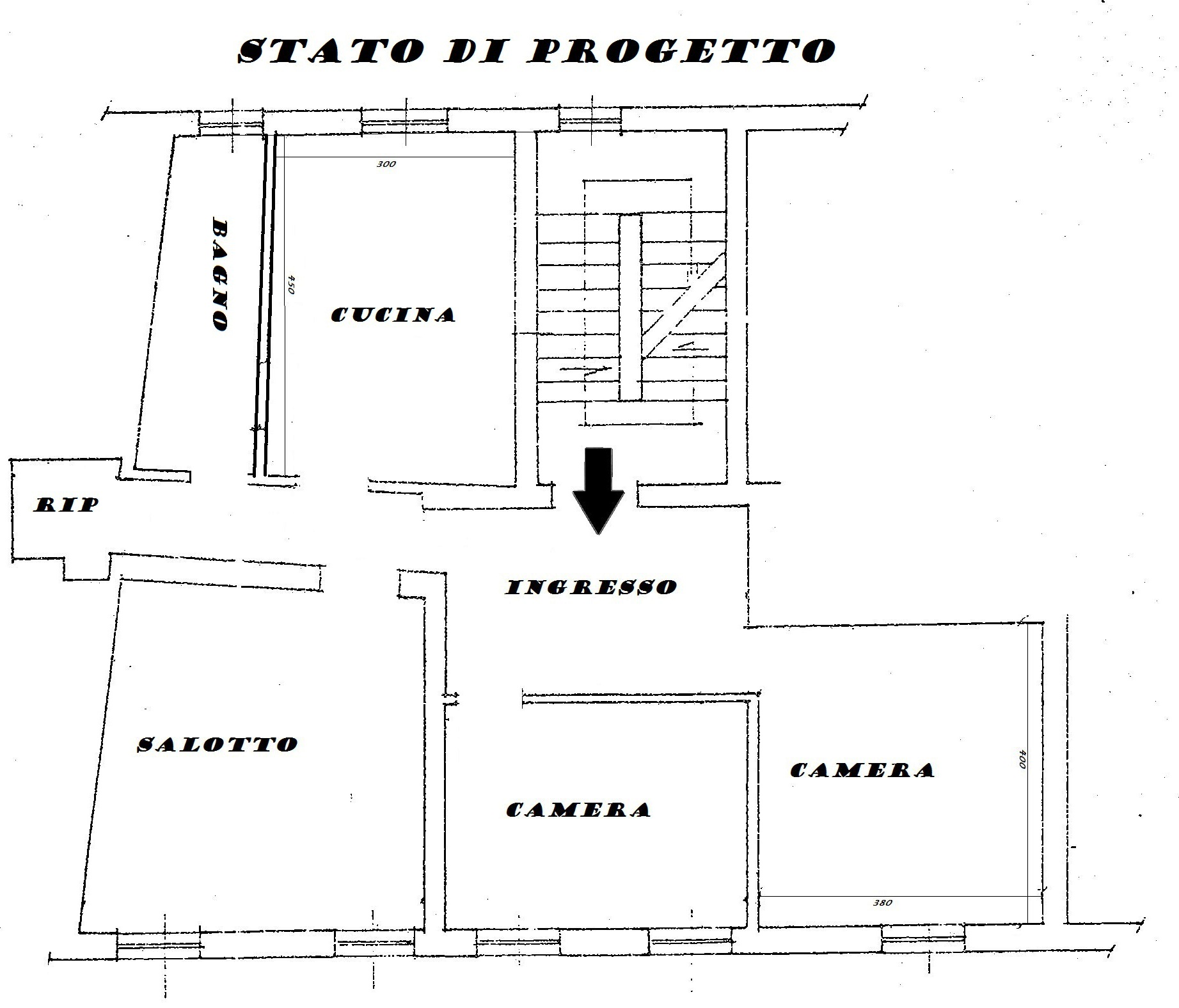 Planimetria 2/2 per rif. Au374