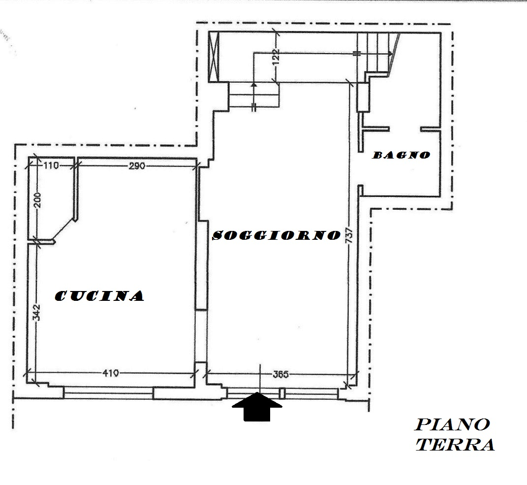 Planimetria 1/2 per rif. 165a