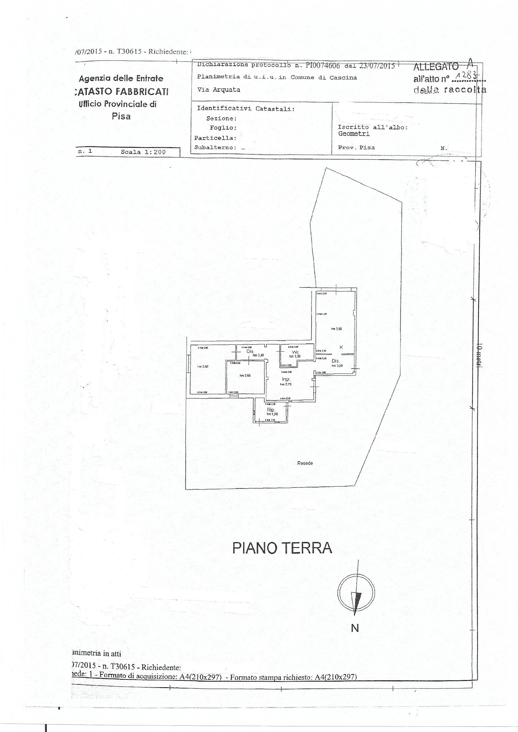Planimetria 1/1 per rif. 3971