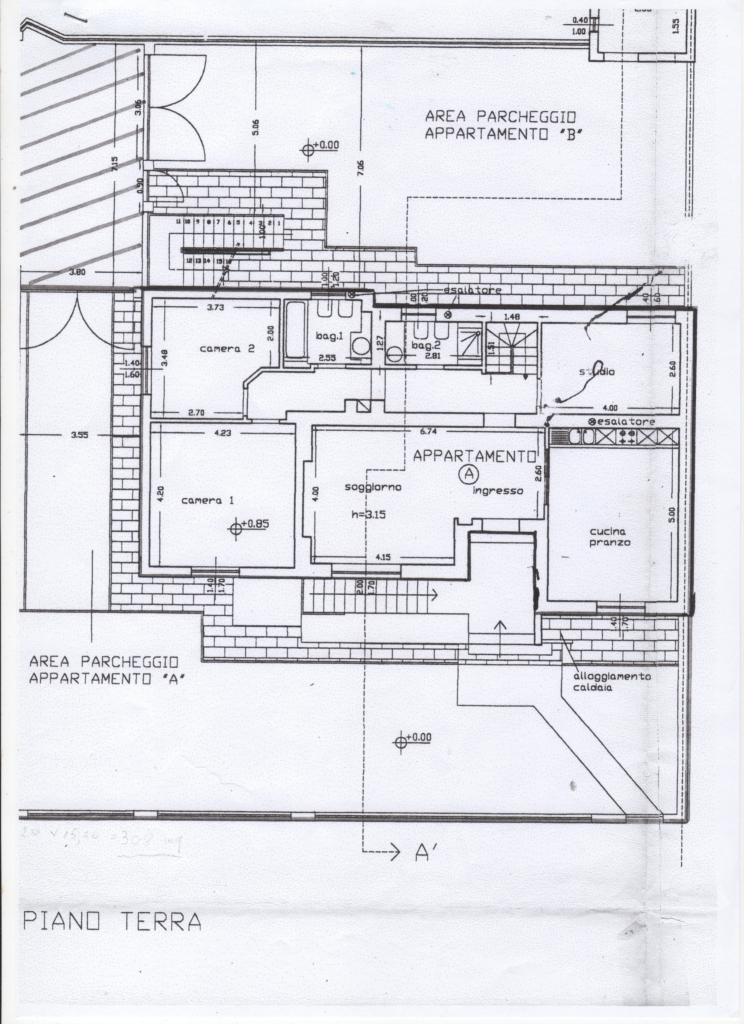 Appartamento in vendita, rif. 294 (Planimetria 1/2)