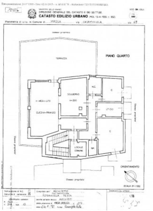 Attico in vendita, rif. 295 (Planimetria 1/1)