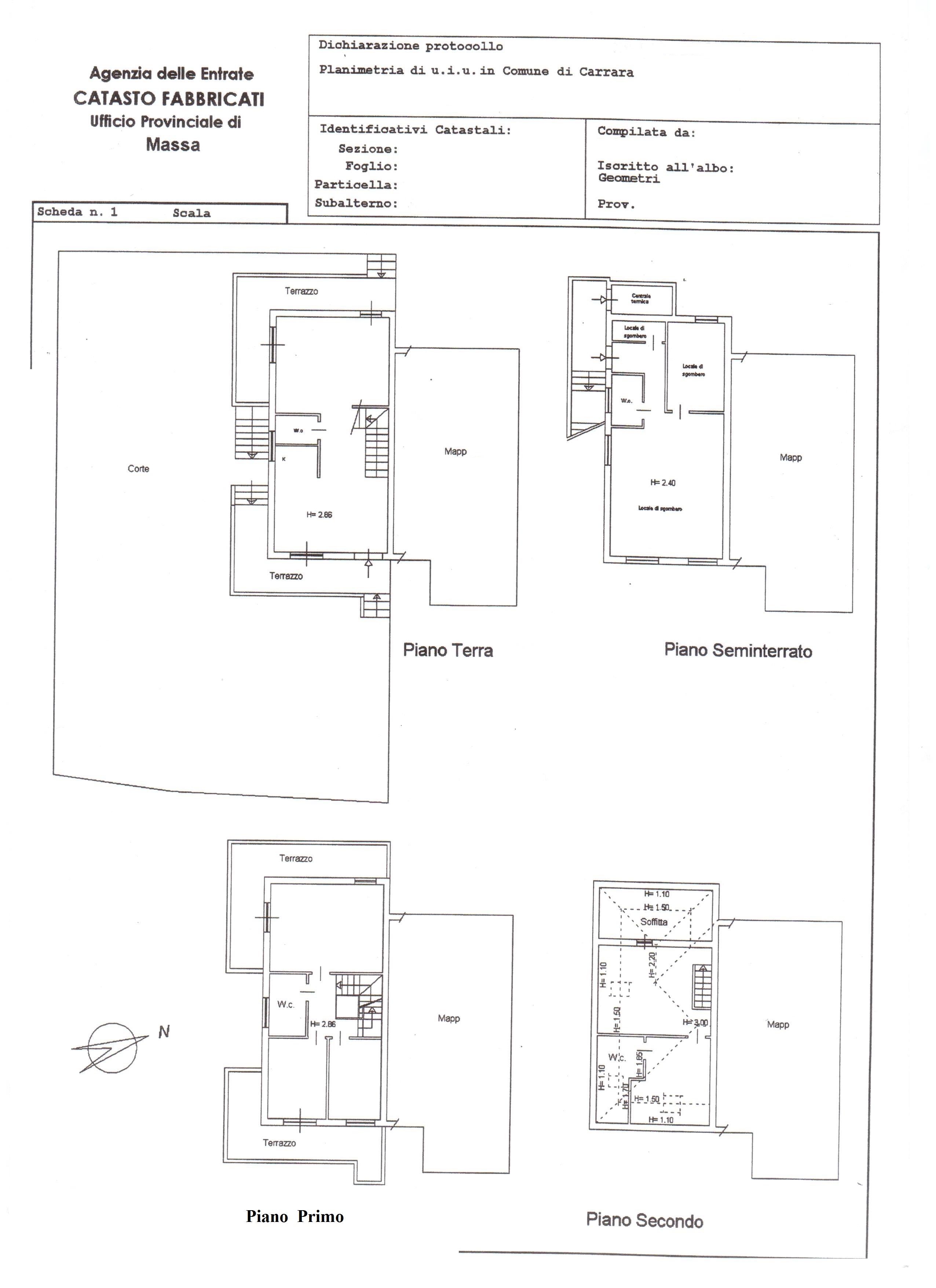 Porzione di casa in vendita, rif. 324 (Planimetria 1/1)