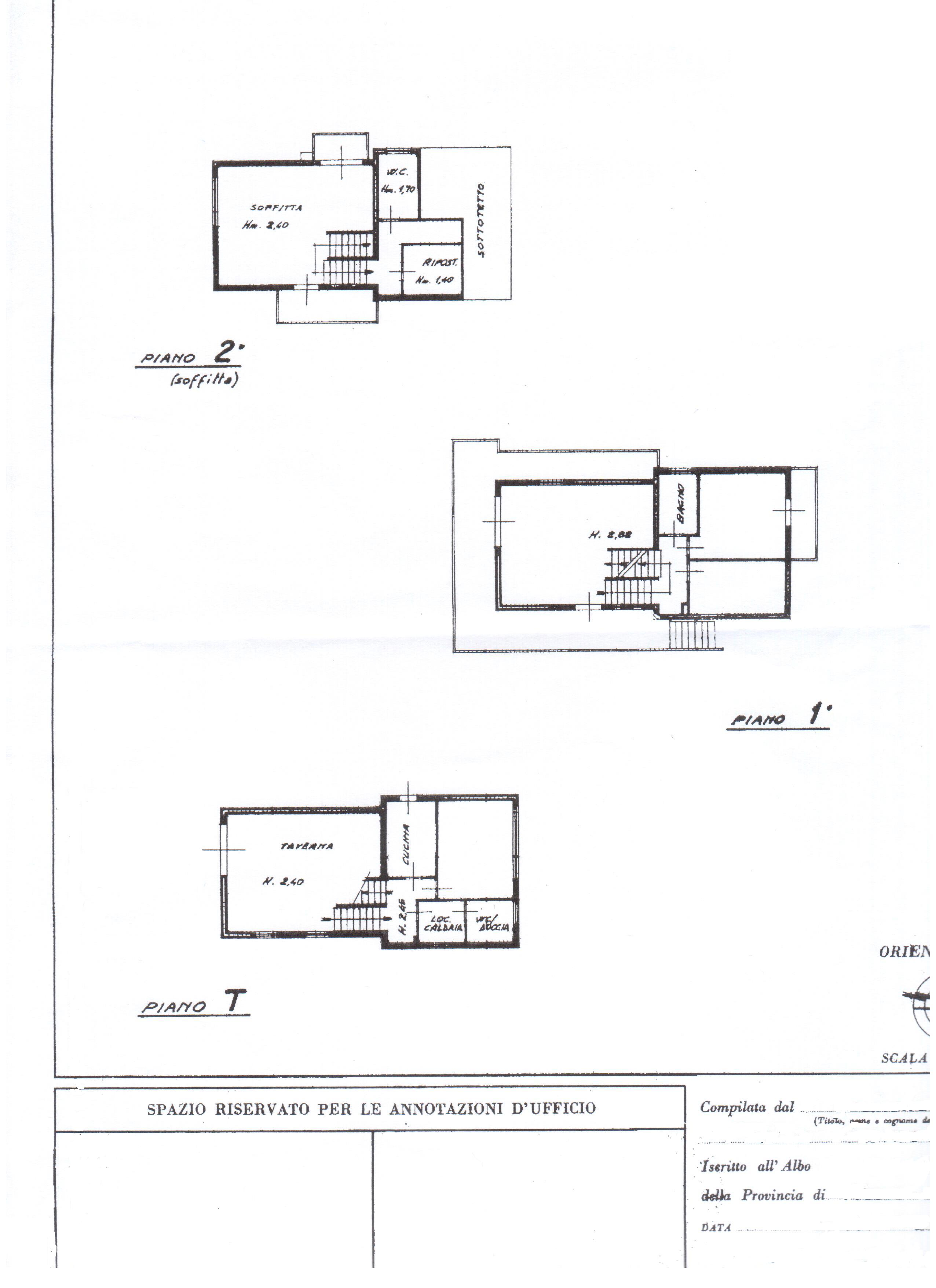 Villa singola in vendita, rif. 330 (Planimetria 1/1)