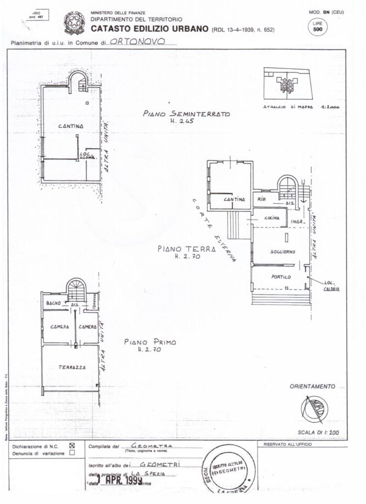 Villetta a schiera in vendita, rif. 334 (Planimetria 1/1)