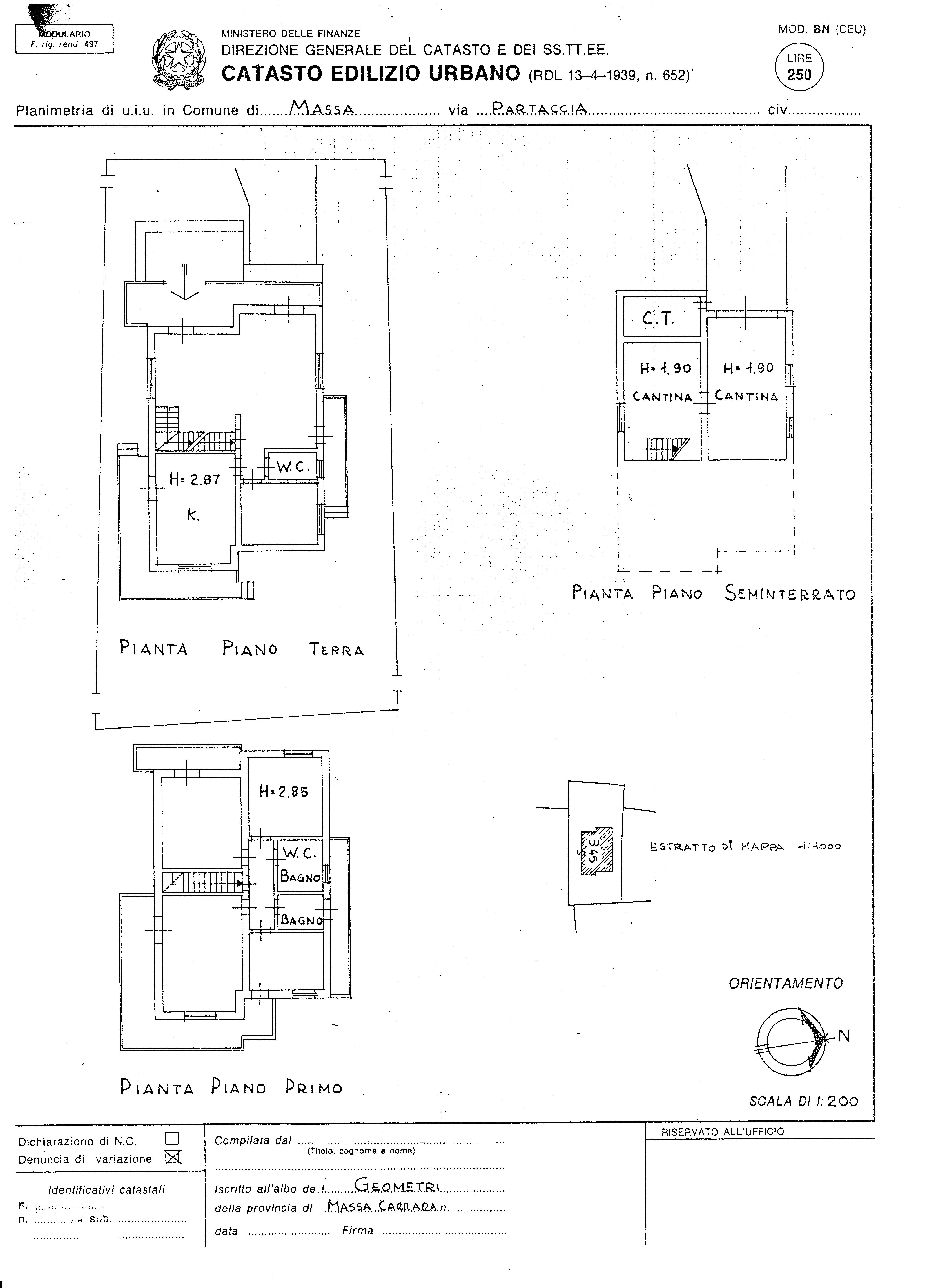 Villa singola in vendita, rif. 388 (Planimetria 1/6)
