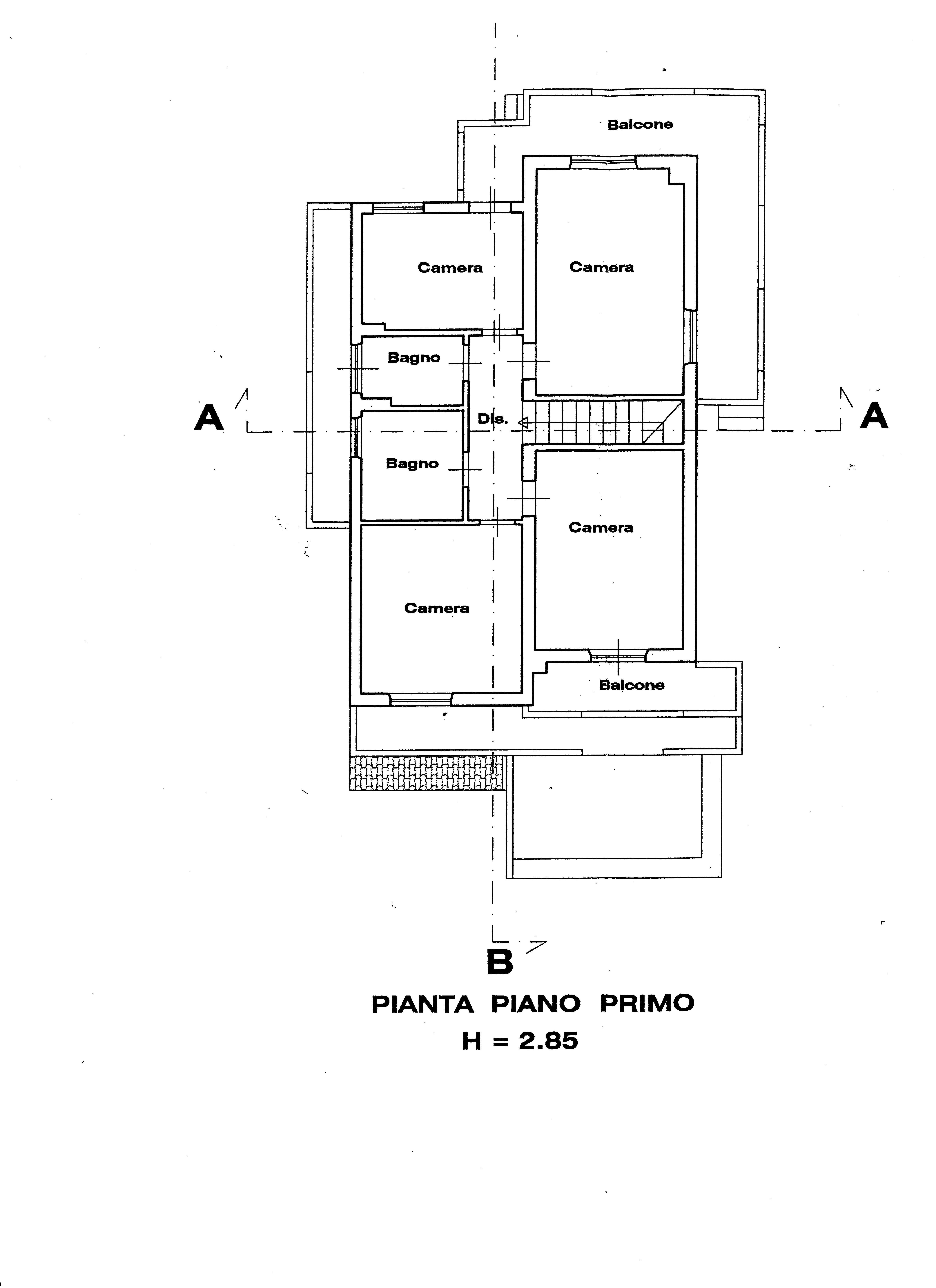 Villa singola in vendita, rif. 388 (Planimetria 4/6)