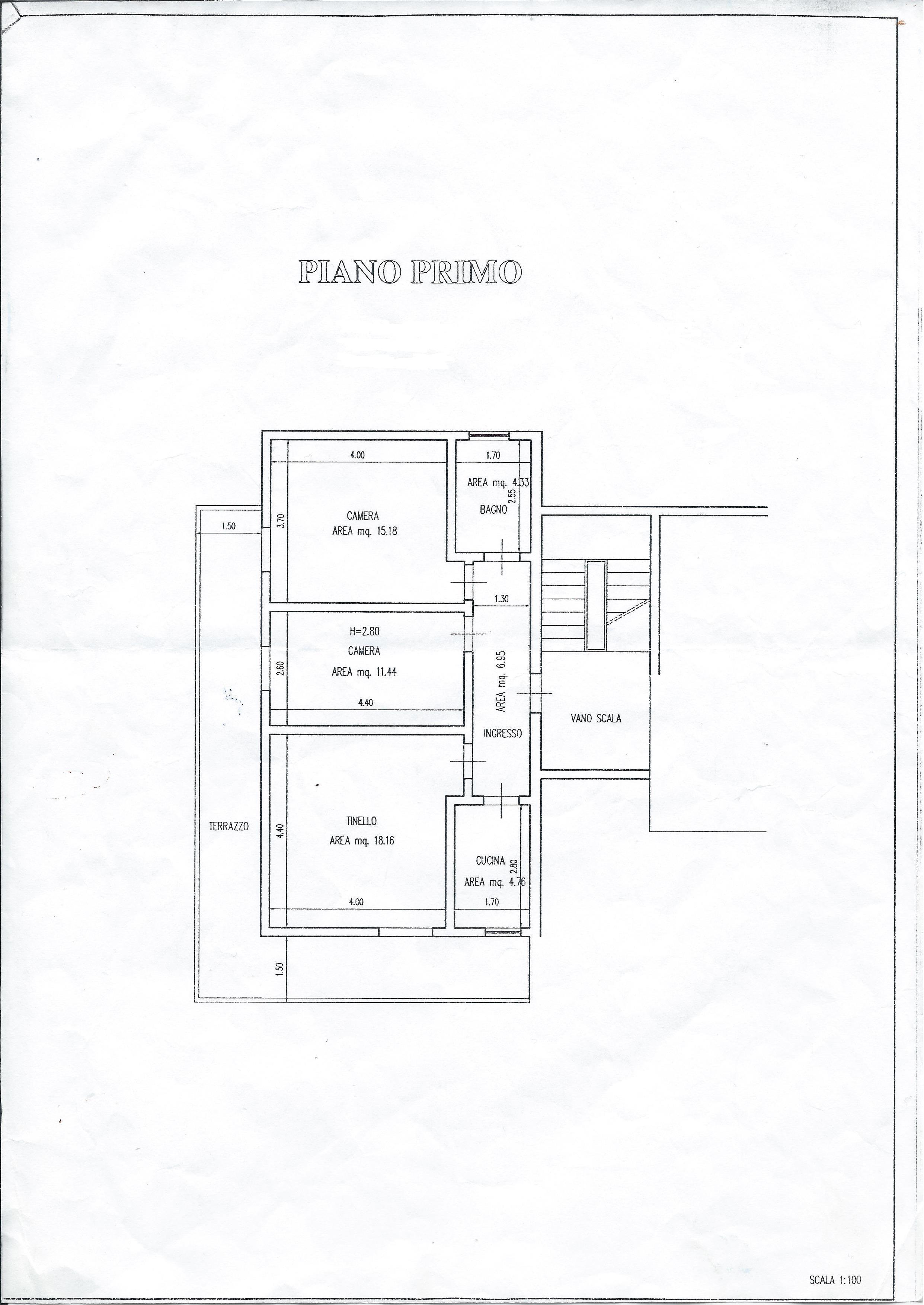 Appartamento in vendita, rif. 408 (Planimetria 1/2)
