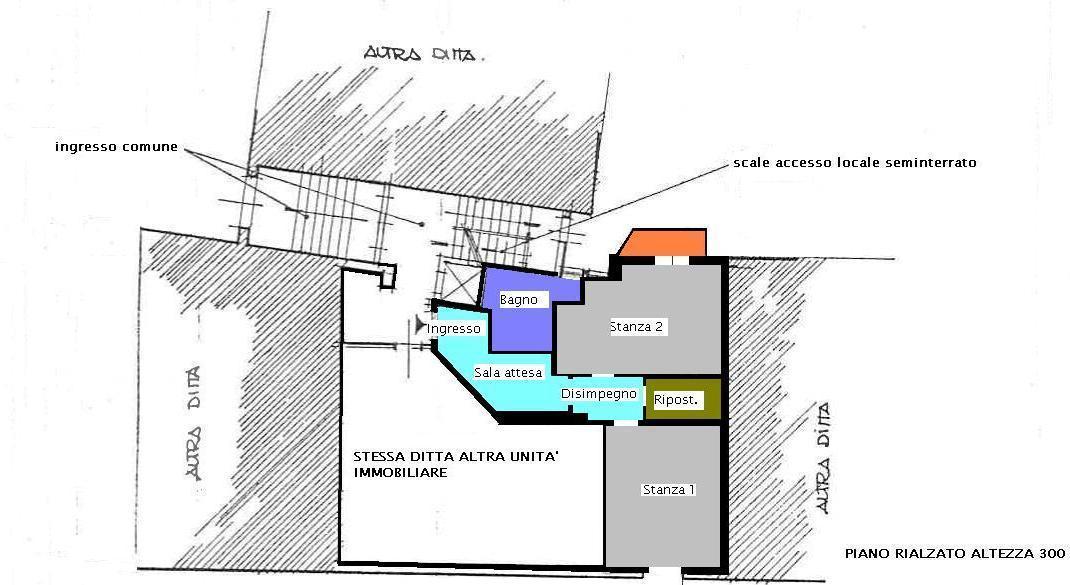 Ufficio in vendita, rif. 434 (Planimetria 1/2)